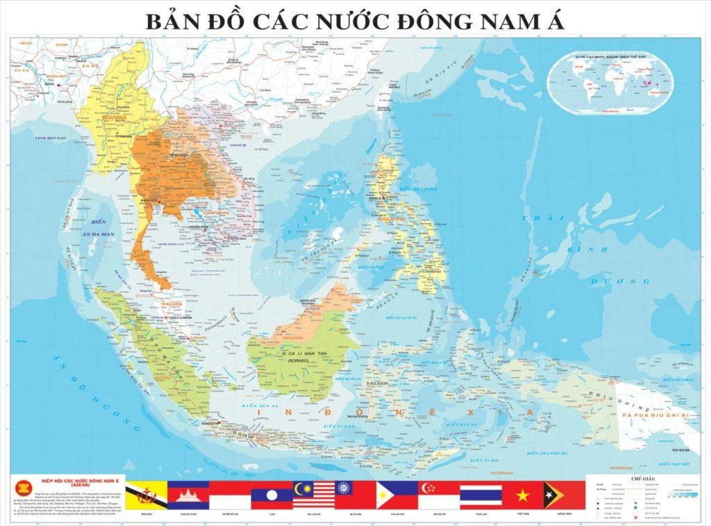 Bản đồ Đông Nam Á khổ lớn