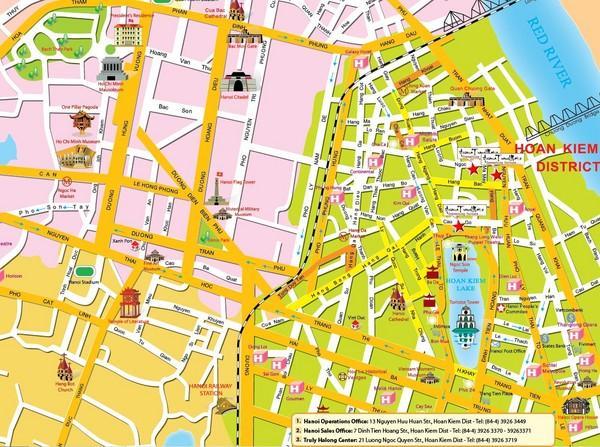 Bản đồ phố cổ Hà Nội