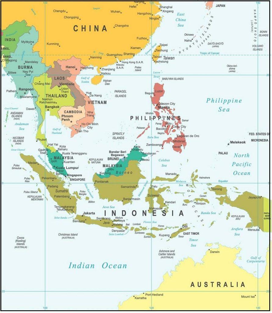Bản đồ hành chính Asean