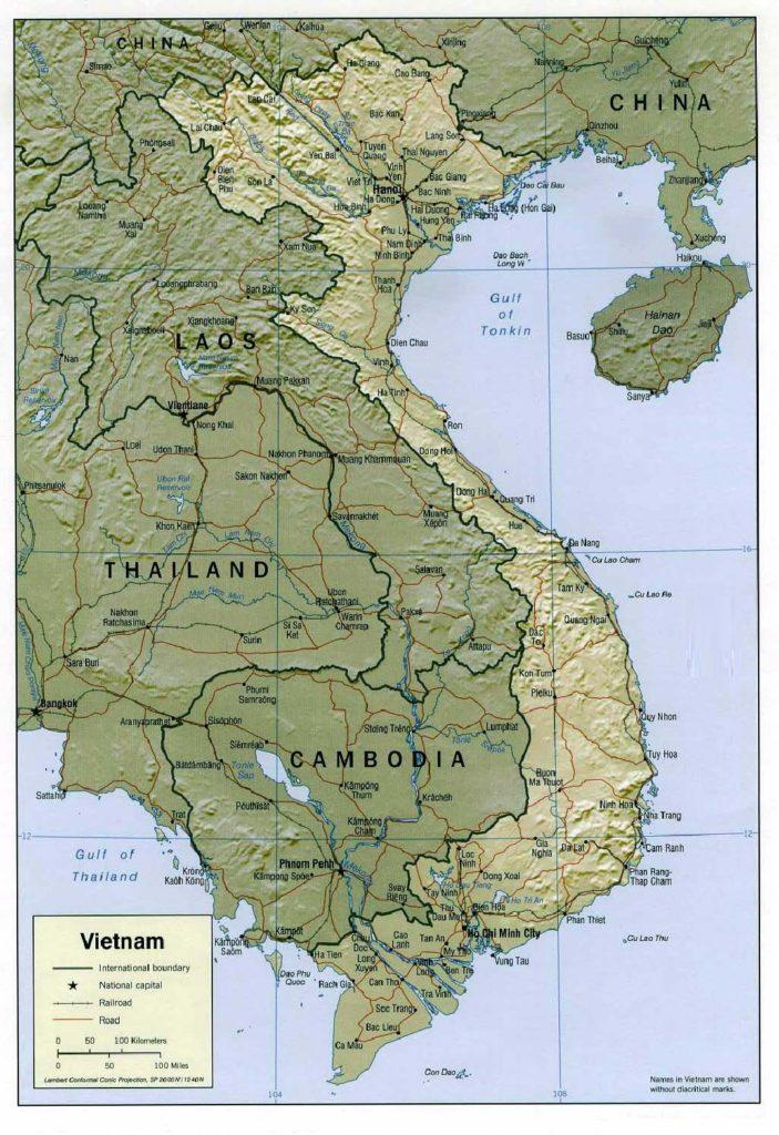 ban do dia hinh Viet Nam