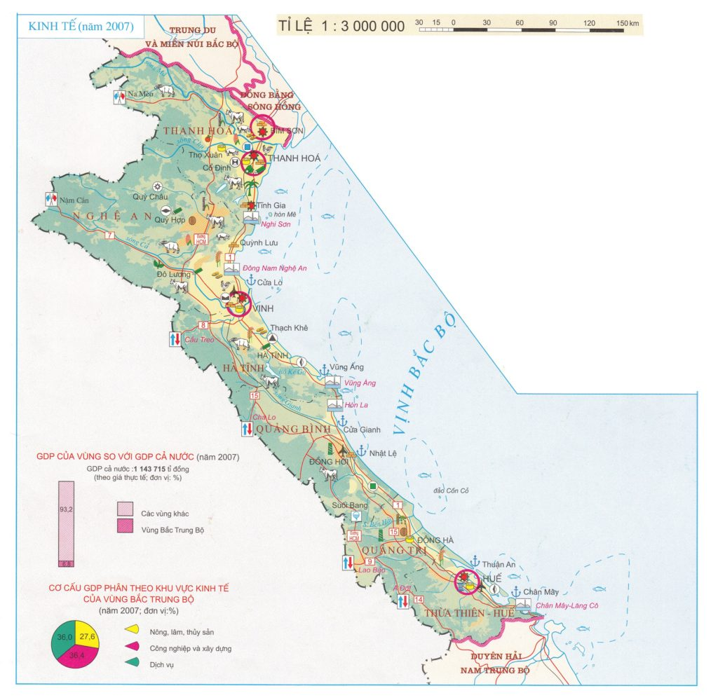 Bản đồ các tỉnh miền Trung