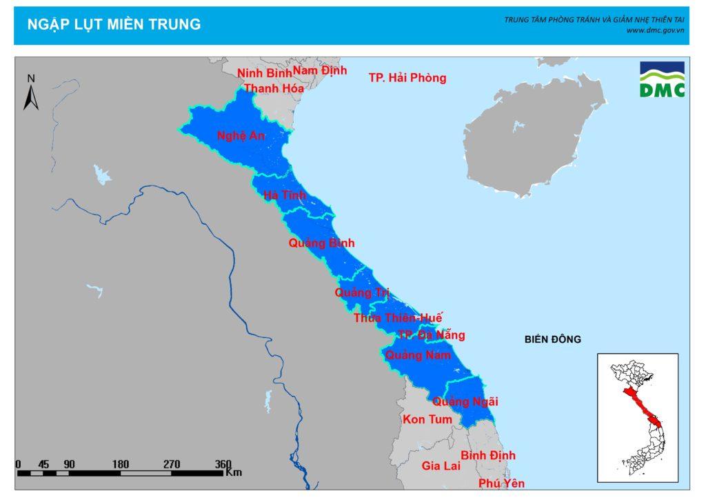 Bản đồ vùng Trung Bộ