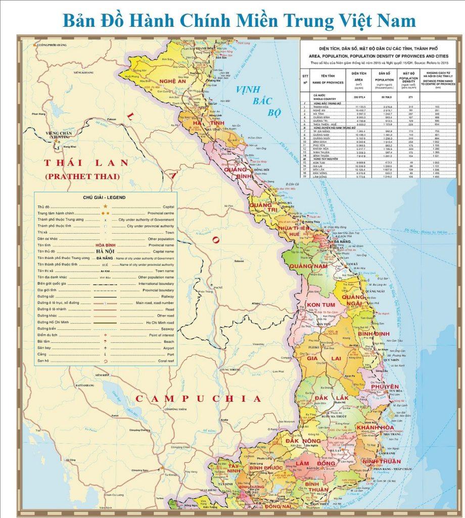 Bản đồ vùng duyên hải miên Trung