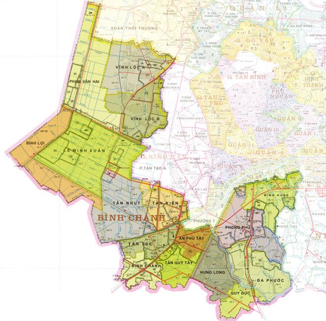 Hướng quy hoạch huyện Bình Chánh đến năm 2020