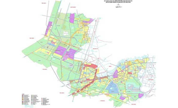 Xem bản đồ quy hoạch huyện bình chánh đến năm 2020