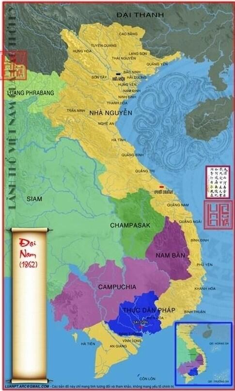 Lãnh thổ Việt Nam sau hòa ước Nhâm Tuất 1862
