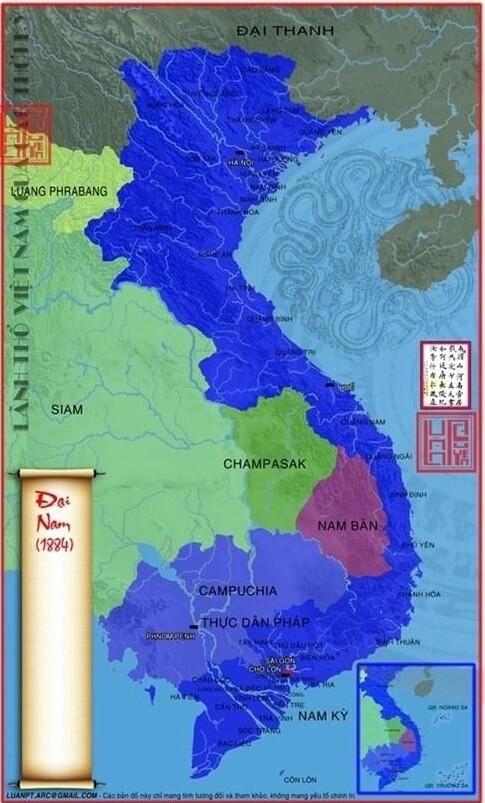 bản đồ 3 nước Đông Dương thời Pháp