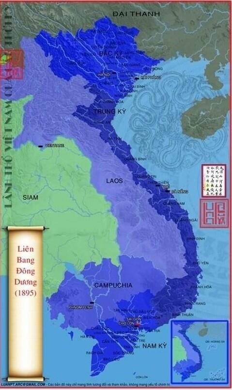 bản đồ lãnh thổ Việt Nam thời Pháp