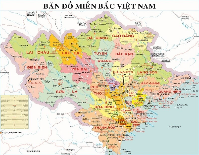ban do giao thong mien bac